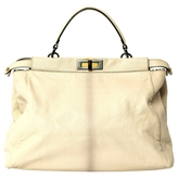 Fendi Ecru Leather Handbag