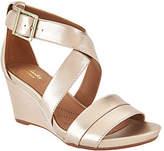 Clarks Artisan Leather Wedge Sandals - Acina Newport