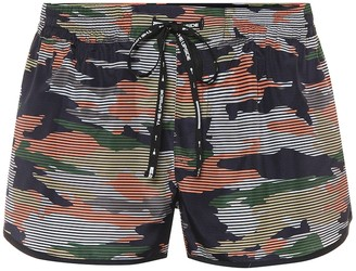 The Upside Camouflage-printed shorts