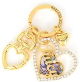 Juicy Couture Mother Of Pearl Heart Key Fob