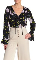 Cupcakes And Cashmere Amethyst Satin Floral Blouse