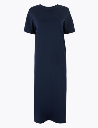 Marks and Spencer Pure Cotton Midi T-Shirt Dress