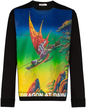Valentino Dragon at Dawn graphic-print jumper