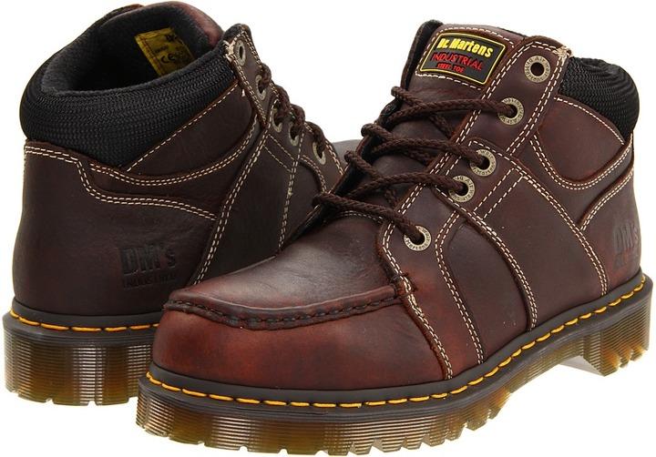 Dr. Martens Work - Darby ST 5 Eye Moc Toe Boot (Teak Industrial Bear) - Footwear
