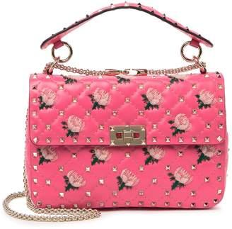 Valentino Floral Quilted Flap Shoulder Bag