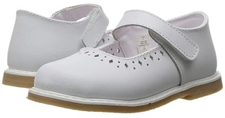Baby Deer Stichout Mary Jane (Infant/Toddler) (White) Girls Shoes