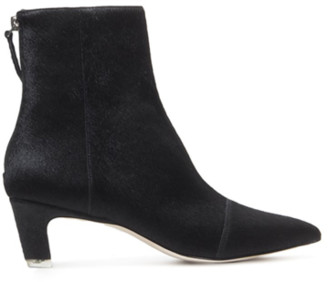 Black Suede Studio Sonia Black Ankle Bootie