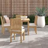 """Anthony Logistics For Men Foundstone Outdoor Patio 7 Piece Teak Dining Set with Cushion Foundstone Table Size: 30.5"""" H x 72"""" L x 39.5"""" W"""