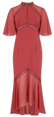 Dorothy Perkins Womens Little Mistress Red Angel Sleeve Dress, Red