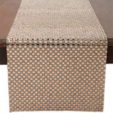 red pomegranate Gold-Tone Square-Pattern Jeweled Table Runner