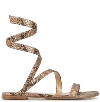 Gianvito Rossi Snake Print Sandals
