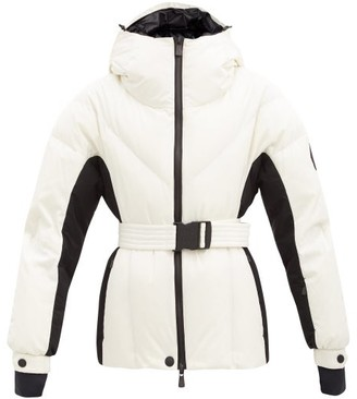 MONCLER GRENOBLE Frachey Hooded Belted Down Jacket - White
