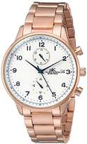 Adee Kaye Men's Quartz Stainless Steel Fitness Watch, Color:Rose Gold-Toned (Model: AK7501-RGSV)