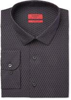 Alfani RED Men's Extra Slim-Fit Black Star Dress Shirt, Only at Macy's