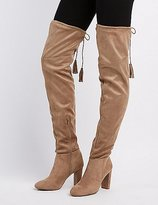 Charlotte Russe Qupid Tassel Over-The-Knee Boots