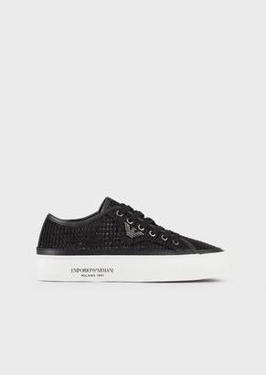Emporio Armani Sneakers In Shimmering Fabric