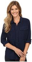 Calvin Klein Jeans Garment Dye Utility D-Ring Tab Long Sleeve Shirt