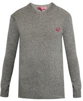 Mcq Alexander Mcqueen Swallow-badge Crew-neck Sweater