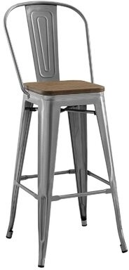 "17 Stories Glynda Promenade 30"" Bar Stool Color: Gunmetal"