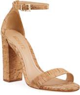 Schutz Enida Cork Heel Sandals