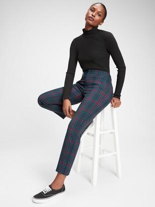 Gap Slim Ankle Plaid Pants