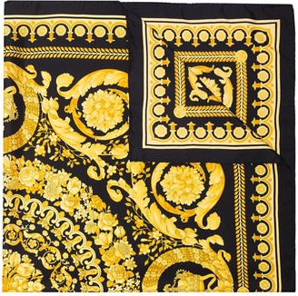 Versace Silk Foulard Signature Scarf