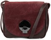 Kooba Claude Small Saddle Bag In Dark Berry