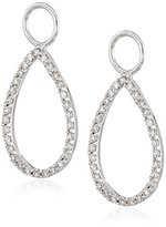 "KC Designs Charmed Life"" Diamond 14k White Gold Pear Shape Ear Charm"