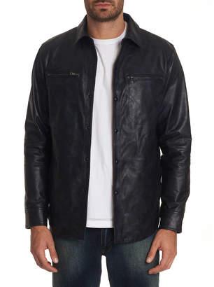 Robert Graham Men's Gable Lambskin Leather Shirt Jacket