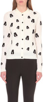 Alice + Olivia ALICE & OLIVIA Stacey embroidered wool-blend cardigan