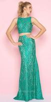 Mac Duggal Lace Two Piece Column Prom Dress