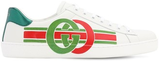 Gucci New Ace Leather Sneakers W/ Gg Logo