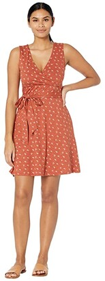 Toad&Co Cue Wrap Sleeveless Dress (Picante Geo Print) Women's Dress