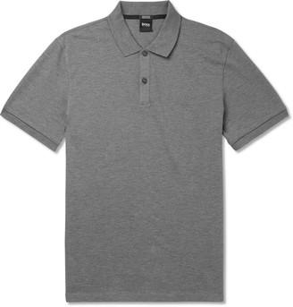 HUGO BOSS Pallas Melange Cotton-Pique Polo Shirt