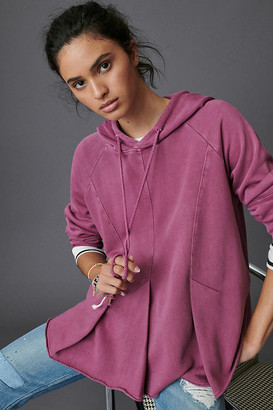 Pilcro And The Letterpress Pilcro Flynn Hoodie By in Purple Size XS