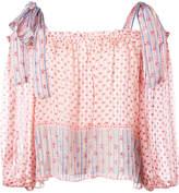Ulla Johnson floral print tie sleeves blouse
