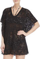 Jordan Taylor Black Eyelet Batwing Cover-Up Tunic