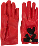 Gucci heart gloves - women - Silk/Cotton/Lamb Skin/Viscose - 7