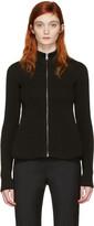MM6 MAISON MARGIELA Black Peplum Zip-up Sweater