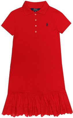 Polo Ralph Lauren Kids Polo stretch-cotton shirt dress