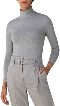 Akris Punto Long-Sleeve Fitted Jersey Turtleneck