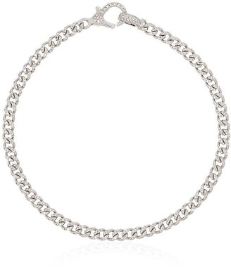 Shay 18kt white gold Baby pave diamond 7 inch link bracelet