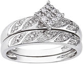 MODERN BRIDE 1/10 CT. T.W. Diamond Bridal Ring Set, Sterling Silver