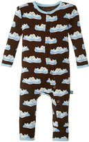 Kickee Pants Print Fitted Coverall (Baby) - Bark Seals - 3-6 Months