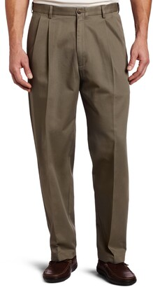 Haggar Men's Big-Tall Work to Weekend Hidden Expandable Waist Pleat Front Pant
