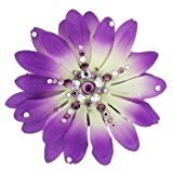 Michelle Roy Swarovski Crystal Medium Daisy Hair Clip - Purple