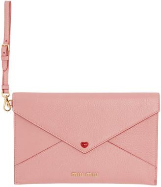 Miu Miu Pink Love Envelope Wallet