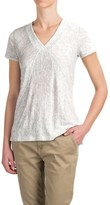 Kenar Heathered Linen Shirt - V-Neck, Short Sleeve (For Women)