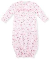 Kissy Kissy Tender Hearts Convertible Sleep Gown, Pink, Size Newborn-Small