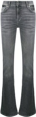 7 For All Mankind High Rise Flared Skinny Jeans